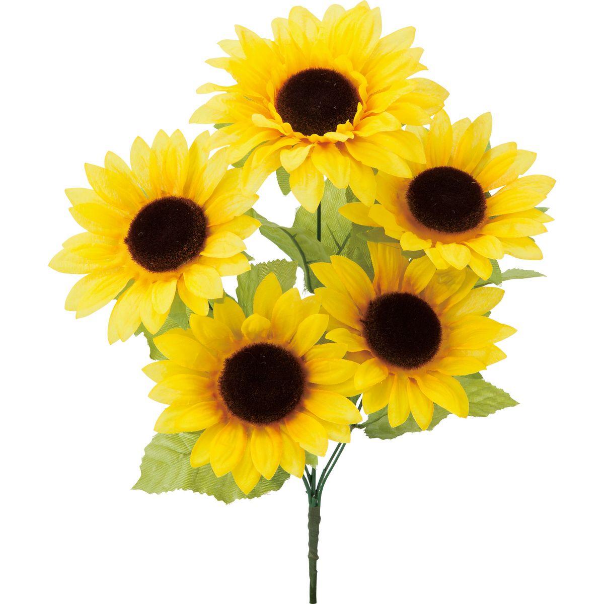 【造花】YDM/ヒマワリブッシュ イエロー/FS-8302-Y【01】【取寄】《 造花(アーティフィシャルフラワー) 造花 花材「は行」 ひまわり 》