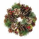 彩か/Wreath -Green Needle & Pinecone S/CXO-579S【01】【取寄】[3個]