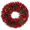 彩か/Wreath -Red Big Pinecone M/CXO-562M【01】【取寄】[2個]
