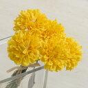 即日★【造花】YDM/ミニピンポンマムピック/FB2346-Y【00】《 造花(アーティフィシャルフラワー) 造花 花材「か行」 キク(菊)・ピンポンマム 》