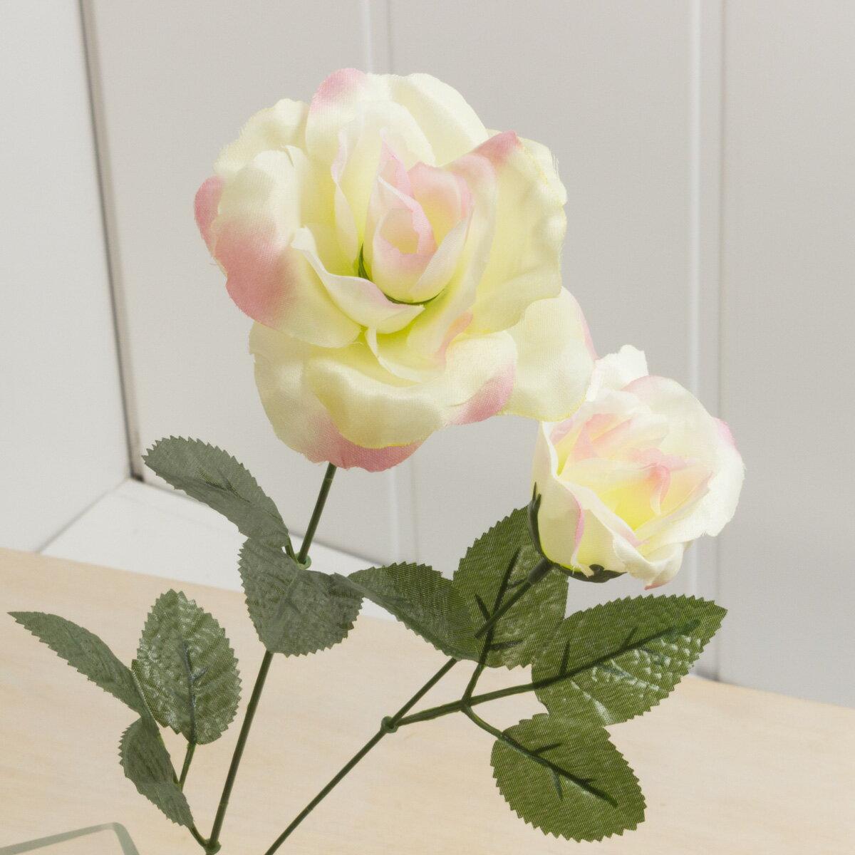 即日★【造花】YDM/サテンローズ*2 ピンク/FF2750-P|造花 バラ【00】《 造花(アーティフィシャルフラワー) 造花 花材「は行」 バラ 》