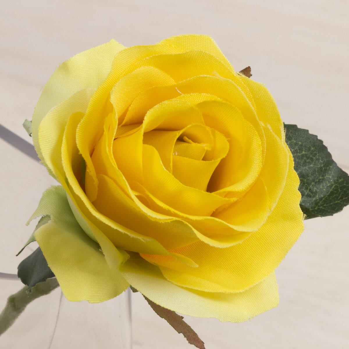 即日★【造花】YDM/ローズ イエロー/FF2853-Y|造花 バラ【00】《 造花(アーティフィシャルフラワー) 造花 花材「は行」 バラ 》