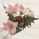 早割◎即日★【造花】YDM/ポインセチアピック×3/FS6786-P【00】《 造花(アーティフィシャルフラワー) 造花 花材「は行」 ポインセチア 》