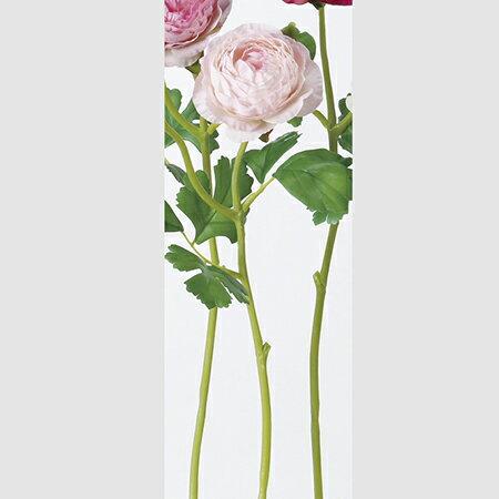 【造花】アスカ/A-39582 ラナンキュラスX1 つぼみX1 #013 ライトピンク/A-39582-013【01】【取寄】《 造花(アーティフィシャルフラワー) 造花 花材「ら行」 ラナンキュラス 》