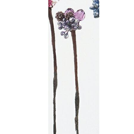 アスカ/ベリーピック(1袋12本入) パープル/A-15201-7《 花資材・道具 フラワーピック フルーツピック 》