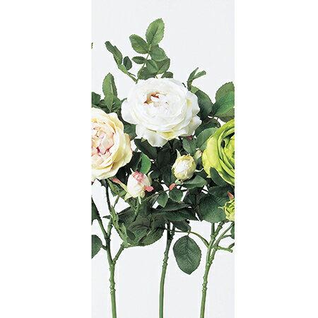 【造花】アスカ/キャベッジローズ×1 つぼみ×1 クリームホワイト/A-31916-11|造花 バラ【01】【01】【取寄】《 造花(アーティフィシャルフラワー) 造花 花材「は行」 バラ 》