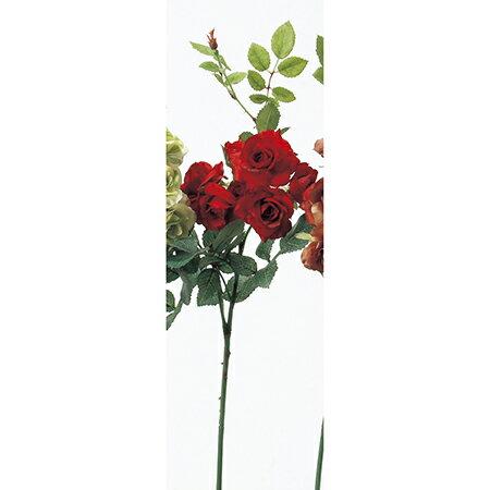 即日 【造花】アスカ/ローズピック×7 レッド/A-36112-2《 造花(アーティフィシャルフラワー) 造花 花材「は行」 バラ 》
