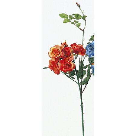 即日★【造花】アスカ/ローズピック×7 オレンジ/A-36112-30《 造花(アーティフィシャルフラワー) 造花 花材「は行」 バラ 》