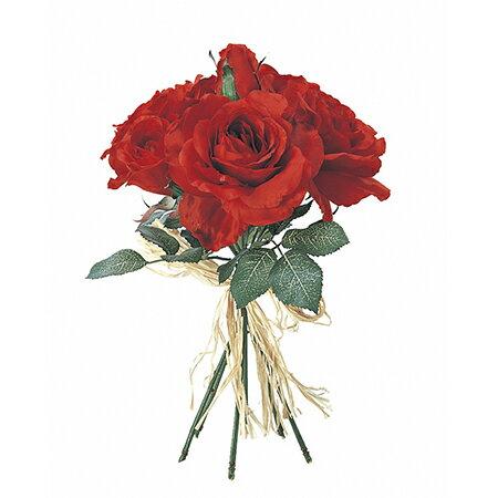【造花】アスカ/ローズブーケ レッド/A-36033-2|造花 バラ【01】【取寄】《 造花(アーティフィシャルフラワー) 造花 花材「は行」 バラ 》
