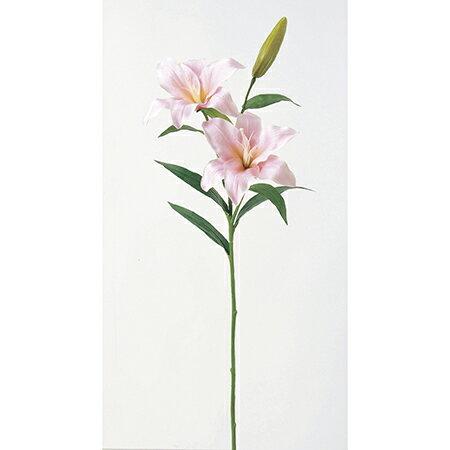 【造花】アスカ/カサブランカ×2 つぼみ×1 ピンク/A-31194-3【01】【取寄】《 造花(アーティフィシャルフラワー) 造花 花材「か行」 カサブランカ 》