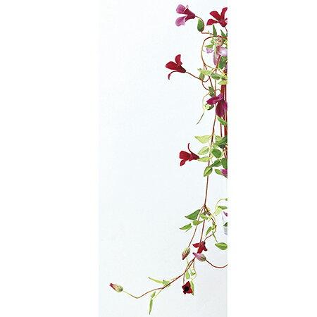 【造花】アスカ/ブルテッセン×5 つぼみ×2 ワインレッド/A-30427-92R【01】【取寄】《 造花(アーティフィシャルフラワー) 造花 花材「か行」 クレマチス 》