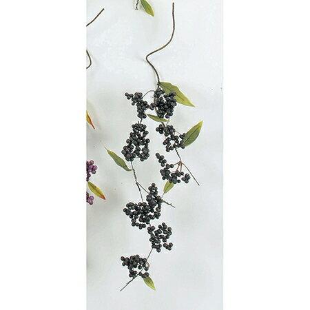 即日 【造花】アスカ/ベリースプレー ブラック/A-47489-100《 造花(アーティフィシャルフラワー) 造花実物、フェイクフルーツ ベリー 》