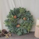 【生花】そのまま飾れる♪オレゴン産キャンドルリング30cm[1個]※届日限定:12/9着まで