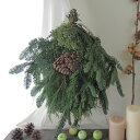 【生花】そのまま飾れる♪オレゴン産エバーグリーンスワッグ[1個]※届日限定:11/19以降