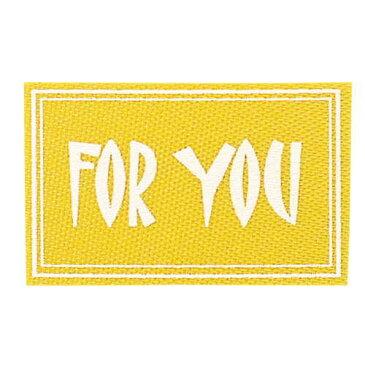 青山リボン/ファブリックシール フォーユー(50枚入り) #064/30-7379-64【01】【取寄】《 ラッピング用品 ・梱包資材 ラッピング・梱包資材 ファブリックシール 》