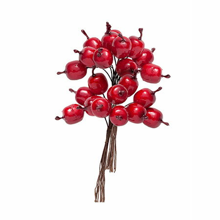 即日 【造花】ミレニアムアート/アートフラワー プチアップル レッド 20個/AFA42-20《 造花(アーティフィシャルフラワー) 造花実物、フェイクフルーツ アップル 》