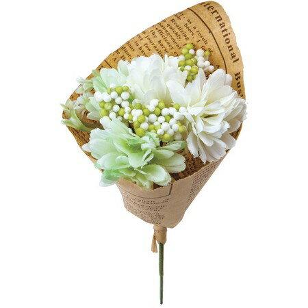 大特価 即日 【造花】YDM/フィンガーマムブーケ グリーンホワイト/FBC8043-G/W《 造花(アーティフィシャルフラワー) 造花 花材「か行」 キク(菊)・ピンポンマム 》