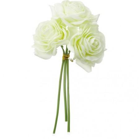 即日★【造花】YDM/ミルキーローズ*3 グリーン/FA6653-GR|造花 バラ【00】《 造花(アーティフィシャルフラワー) 造花 花材「は行」 バラ 》