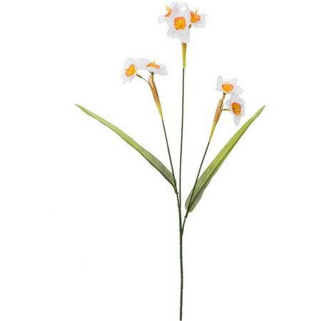 【造花】YDM/ニホンスイセン ホワイトオレンジ...の商品画像