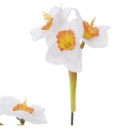 【造花】YDM/ニホンスイセン ホワイトオレン...の紹介画像2