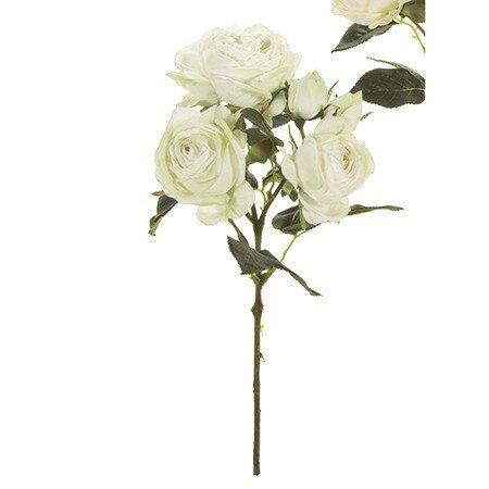 【造花】MAGIQ(東京堂)/セリーヌローズ #123 WH/GR /FM009448-123|造花 バラ【01】【取寄】《 造花(アーティフィシャルフラワー) 造花 花材「は行」 バラ 》
