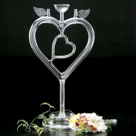 LEO/T-3825 ダブルハート/142-3825-0【01】【取寄】《 花器、リース 花器・花瓶 ガラス花器 》 《 花器、リース 花器・花瓶 ガラス花器 》