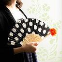 ショッピング省エネ 西川庄六商店 色とりどりの花扇子 全4種 女性用 BOUDAI 20cm 竹 綿 造花