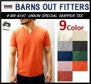 【送料無料】【BARNS OUTFITTERS/バーンズアウトフィッターズ】-BR-8147 UNION SPECIAL SKIPPER S/S TEE-
