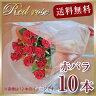花 ギフト 赤いバラ10本の花束 赤い薔薇 お祝い 記念日 結婚 還暦 バレンタインデー 贈る 花 プレゼント プロポーズ 花 宅配