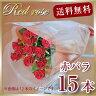 花束 ギフト 赤バラ15本の花束 赤 薔薇 ローズ 記念日 バレンタインデー 贈る 花 プレゼント プロポーズ