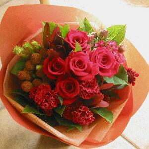 【ミラクル】のイメージでお作りします!おまかせブーケ10,000yen 情熱の赤バラ!あったか色ブーケ