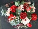 花束 送料無料 カラーセレクトブーケ 赤系 レッド 誕生日 プレゼント ギフト 花 フラワー 花キューピット加盟店