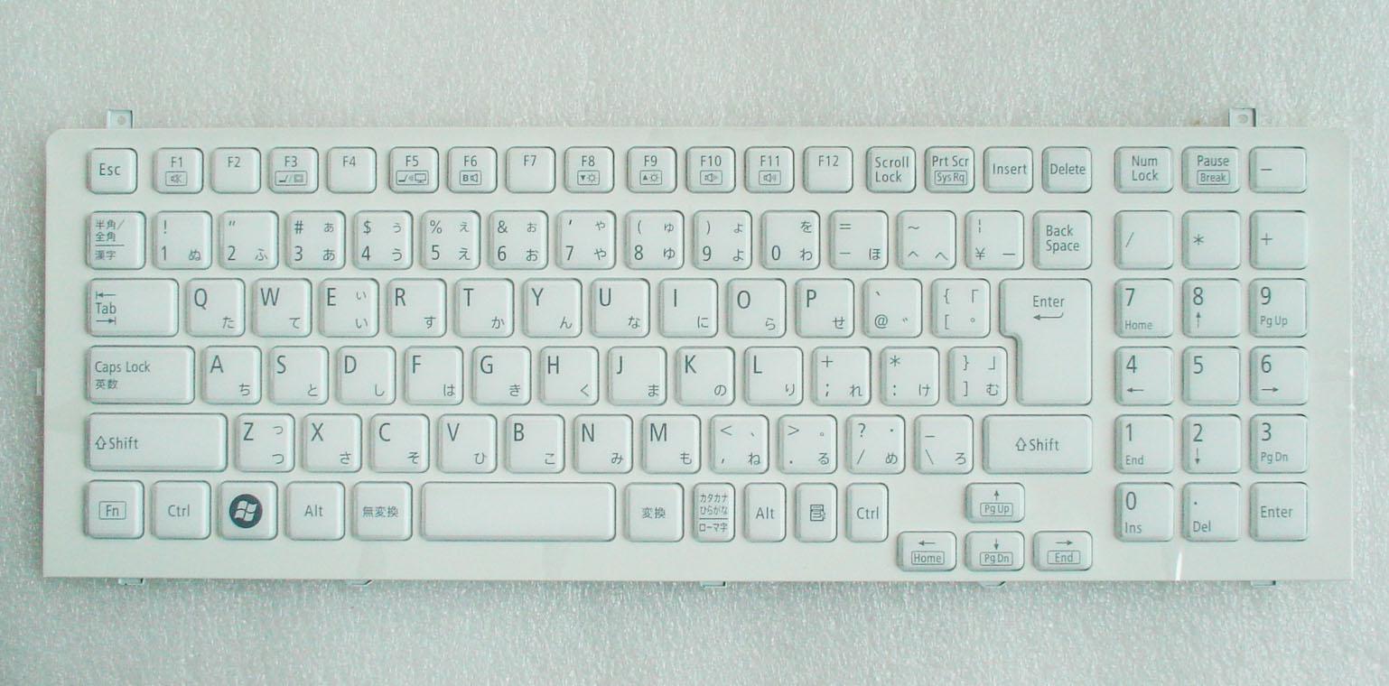 キーボード:新品NECノートPC用キーボード(V119802IJ1,白)PK130J61A00 国内発送