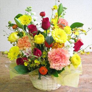 花誕生日四季の彩り花ギフトフラワーアレンジメント送料無料母の日アレンジメントフラワー【あす楽_】【楽ギフ_誕生日