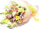 生花 バラやユリ 季節のお花が入った花束 誕生日 花 フラワー ギフト 本州は 送料無料 送別会 歓迎会