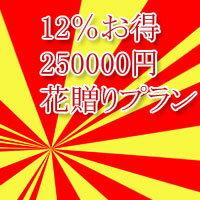 お得 花助のお花贈り 割引プラン 250000円 12パーセントお得 【楽ギフ_メッセ入力】