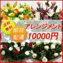【花】フラワーコンシェルジュが厳選した花屋のお祝いアレンジメント花 10000円 【あす楽対応】【楽