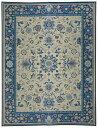国産い草ラグ 「いざよい」 ブルー 約261×352cm