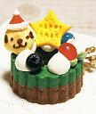 小型犬向け☆馬肉赤身と鶏むね肉発酵ケーキ『キラキラ★XMASリース』