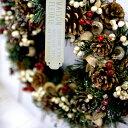 【送料無料】【Lサイズ】クリスマスリース「フレッシュグリーン」(直径約34cm)(リース 玄関 ドライフラワー クリスマス リース