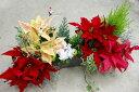 【トレー寄せ植えのみ・入れ替え用】花はなフレームのクリスマス アレンジ寄せ植え*星降る夜に*(寄せ植え クリスマス )