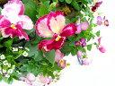 パンジー&ビオラのハンギングバスケット寄せ植え*いちごショート*(寄せ植え・秋・冬・花・ギフト・ガーデニング・パンジー・ビオラ・苗・セット・誕生日・限定・新築祝いなど