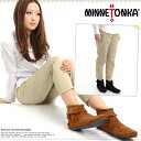 [Mine Tonka MINNETONKA regular sales agent] back zip bootie Back Zipper Boot Hardsole [282-289] [maternity]
