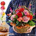 バラと季節の花 おまかせ生花アレンジ Mサイズ アレンジ ハ...