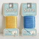 手縫いステッチ糸 Sara 同色3枚単位 フジックス tassel ネコポス可 手芸の山久