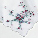ショッピング996 【送料無料】ポワンポワン ベトナム手刺繍 ハンカチ バラ【楽ギフ_包装】