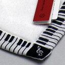 音楽シリーズ タオルハンカチ ピアノ ホワイト ハンカチ 白 【楽ギフ_包装】