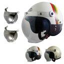 レディースジェットヘルメット クリアシールド + ミラーシールド付き リード工業 QP-2 STREET ALICE [ヘルメット2カラー/シールド2カラ..