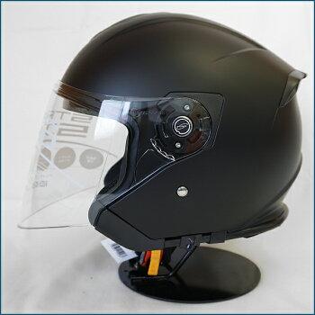 【送料無料】LEAD(リード工業)STRAXSJ-10スモークインナーシールド付きジェットヘルメットMATBLACK(艶消し)FREE(57-60cm)PSC/SG規格認定全排気量適合バイク/シールド付き/インナーバイザー付き/スクーター/ビッグスクーター等
