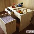 お勉強机にも変身しちゃう!シリーズ サイコロ型のかわいいままごとキッチン「CUBE(キューブ)」木製おままごとキッチン